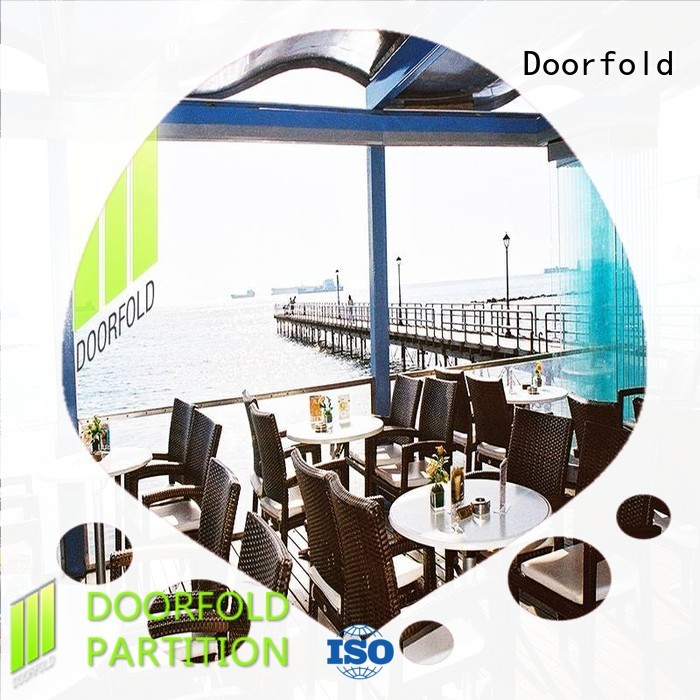 Doorfold folding glass office walls price at discount for restaurant