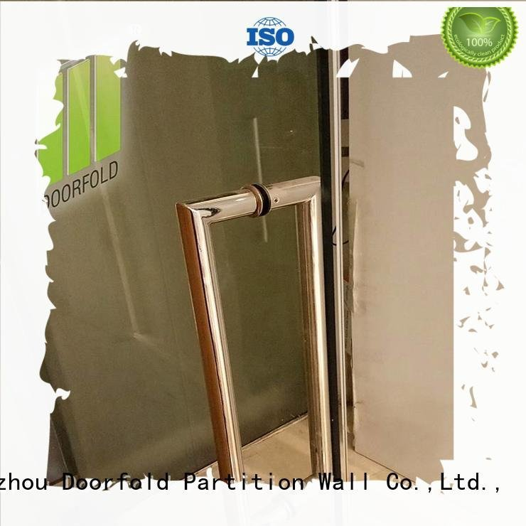Doorfold movable partition glass glass partition wall office