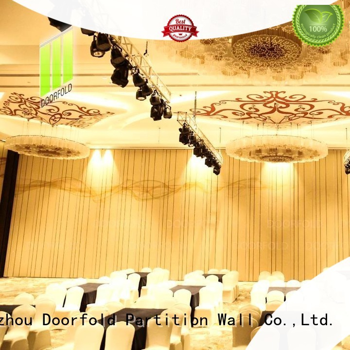 spatial acoustic movable partitions structure at discount for restaurant