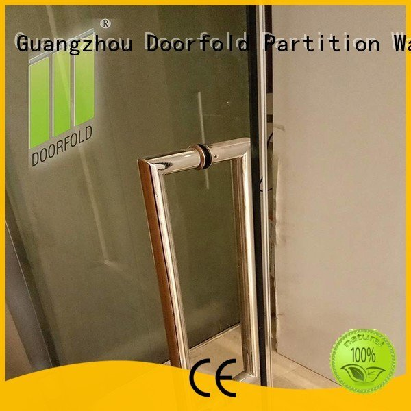 Doorfold movable partition Brand glass movable glass partition walls for office office frameless