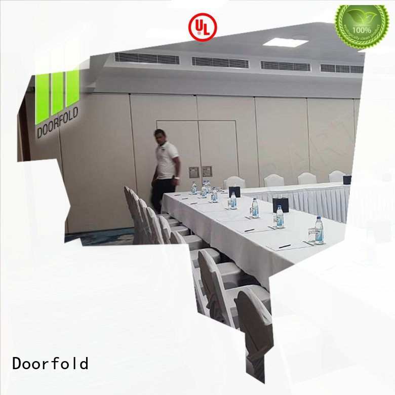 Doorfold sliding partition free design for office