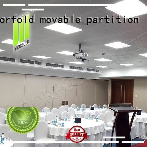 mecca Custom soundproof divider folding partition walls commercial Doorfold movable partition accessories