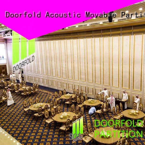 Doorfold movable partition Brand mecca marriott acoustic partition retractable movable