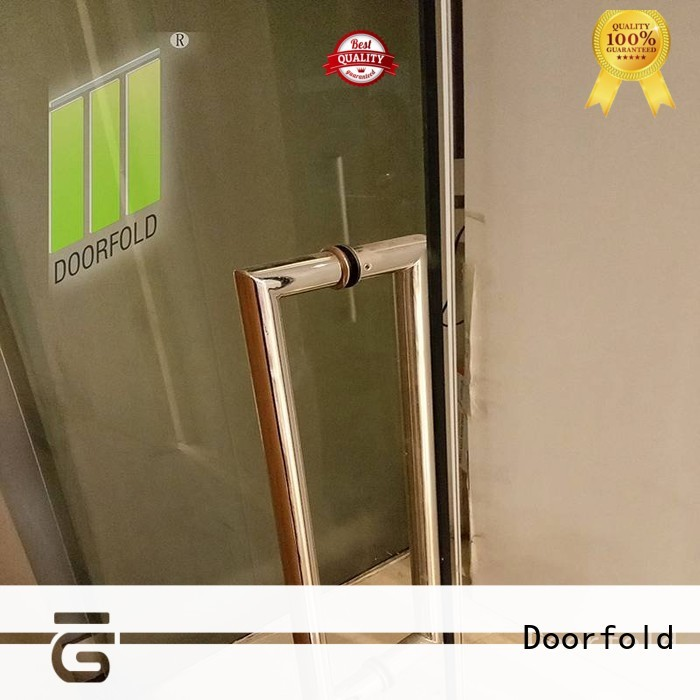 Doorfold folding glass partition custom for office