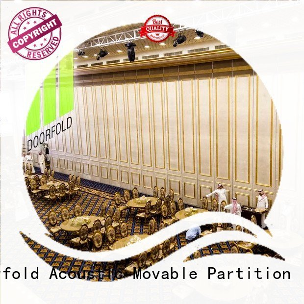 Custom acoustic movable partitions wall mecca retractable Doorfold movable partition