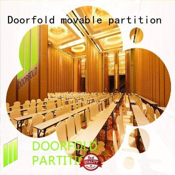 Custom folding partition walls commercial exhibition center acoustic Doorfold movable partition