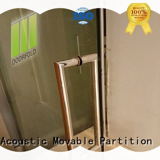 Doorfold chic glass partition wall for meeting room