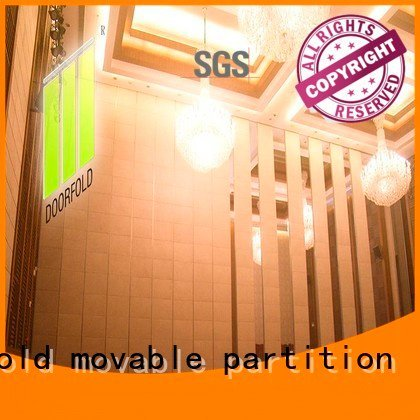 Doorfold movable partition sliding glass partition walls retractable plaza movable acoustic