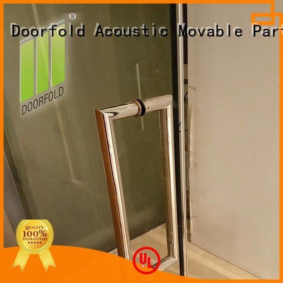 Hot glass partition walls for office glass frameless movable Doorfold movable partition Brand